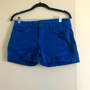 Earnest Sewn Royal Blue Denim Shorts!